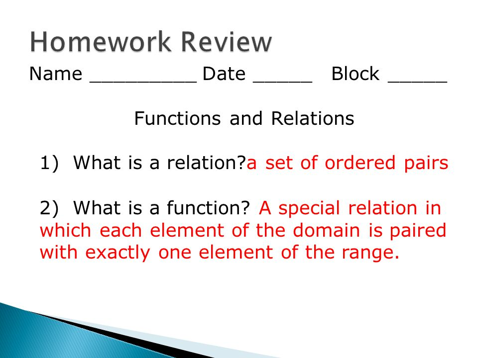 Relations homework helps