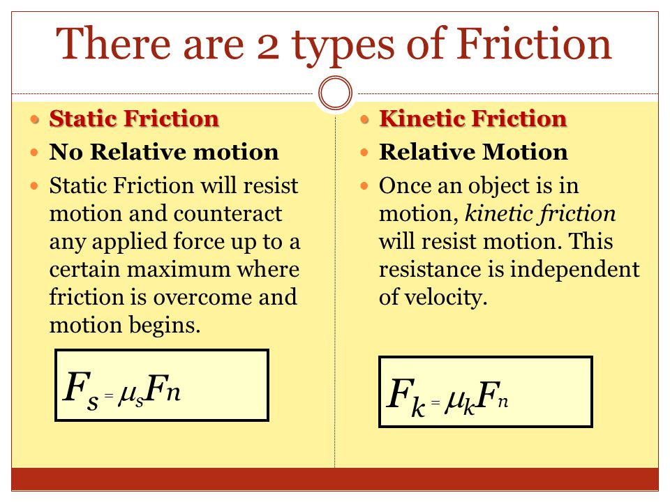 relationship between static friction and massage
