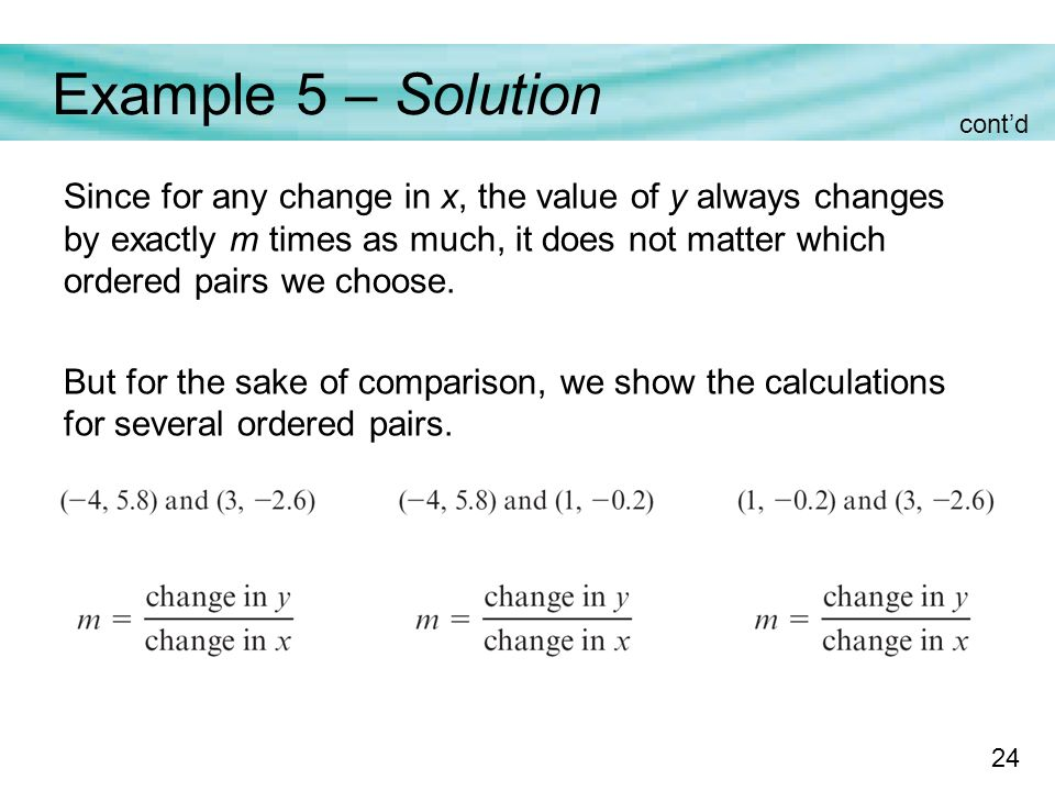 how to do constant rate of change