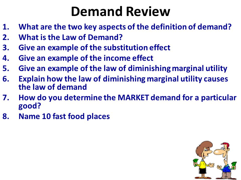 law of demand term paper Law of demandthe law of demand states that the demand for a product is inversely related to the price of such produc buy research paper online type of paper:.