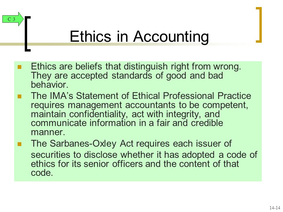 management accountant and ethical behaviour Impact of unethical behavior on accounting practices unethical behavior, accounting practices, ethical identify expert accountant as a representative.