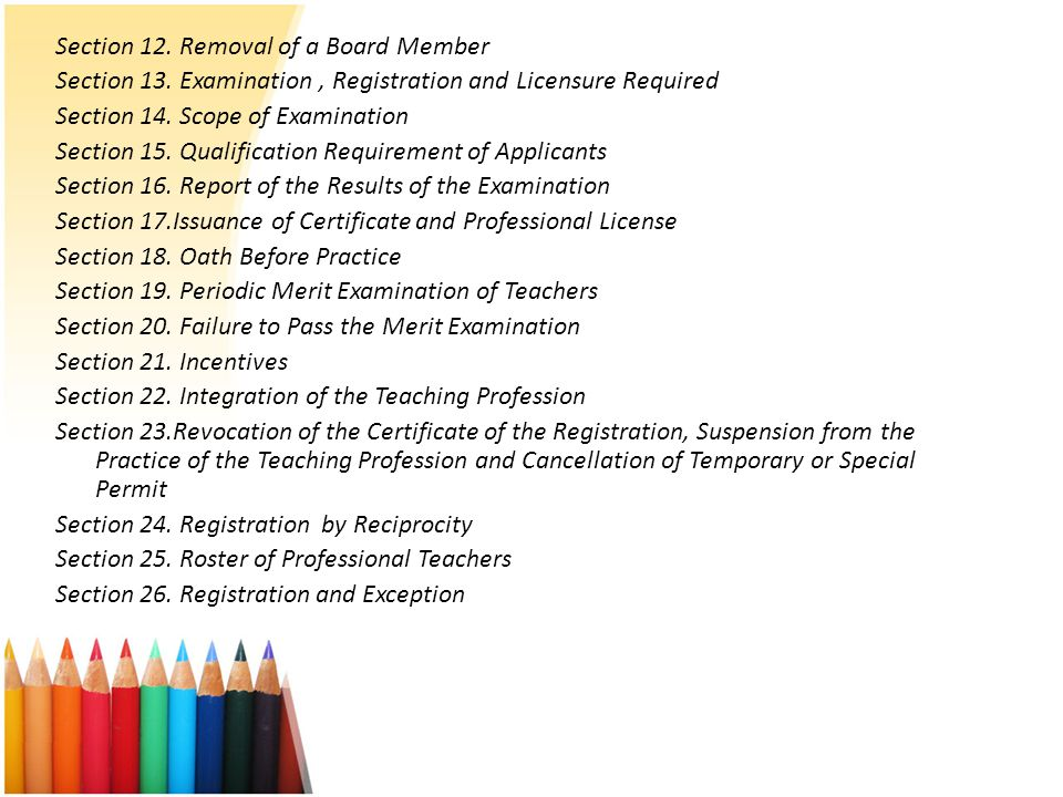 Section 12. Removal of a Board Member