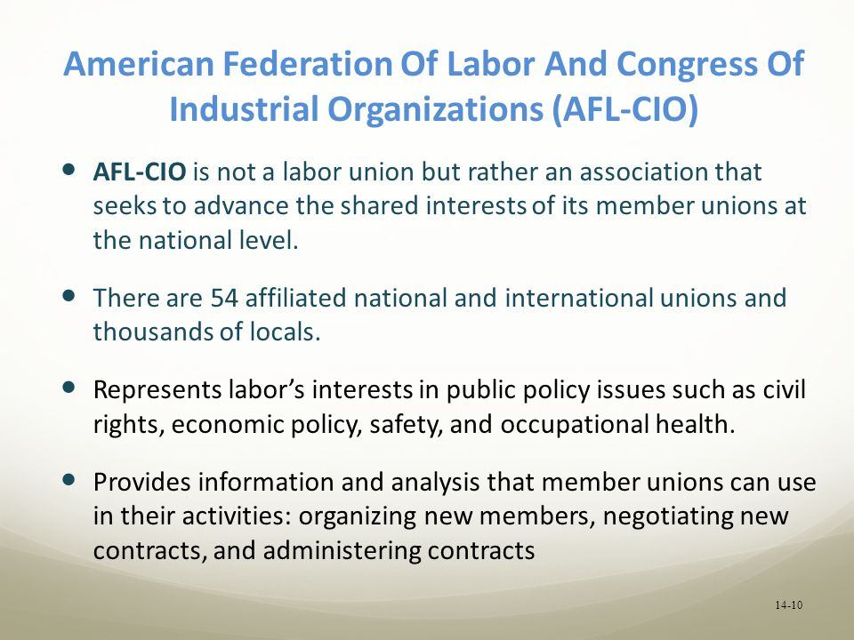 An analysis of the foundation of the american federation of labor afl