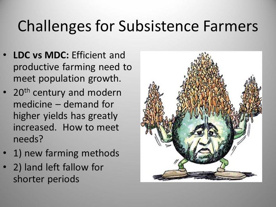 Challenges for Subsistence Farmers