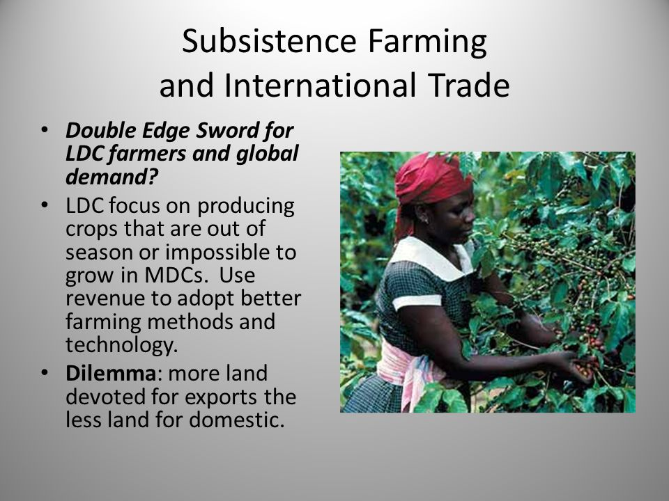 Subsistence Farming and International Trade