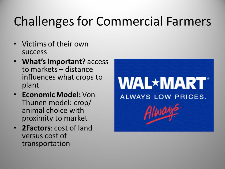 Challenges for Commercial Farmers