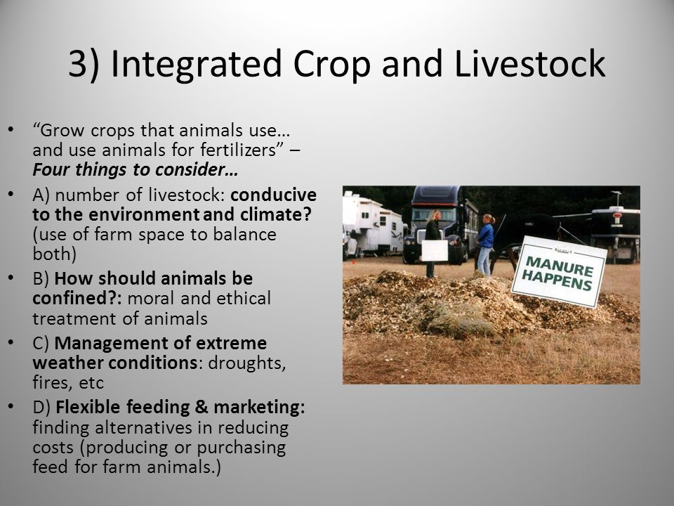 3) Integrated Crop and Livestock