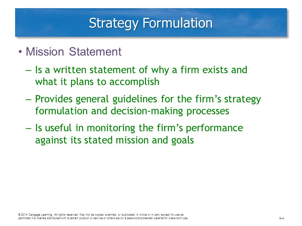 Discuss The Importance Of Mission Statements In General Corporate