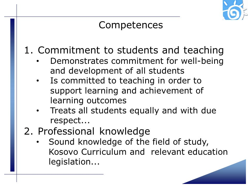 Commitment to students and teaching