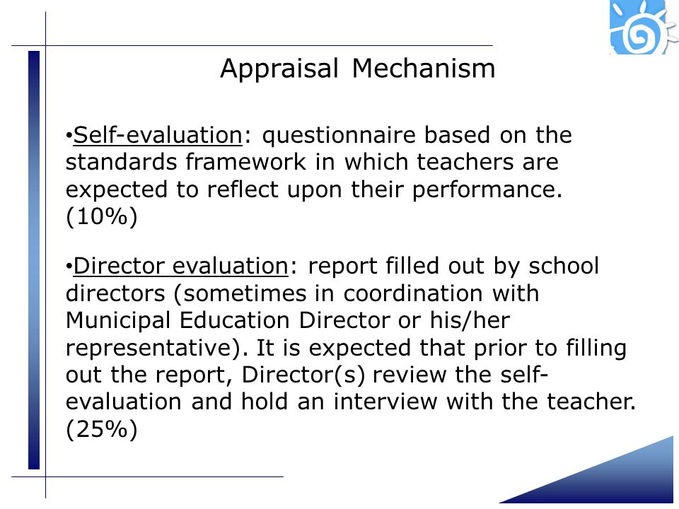 Presentation (4)Appraisal Mechanism.