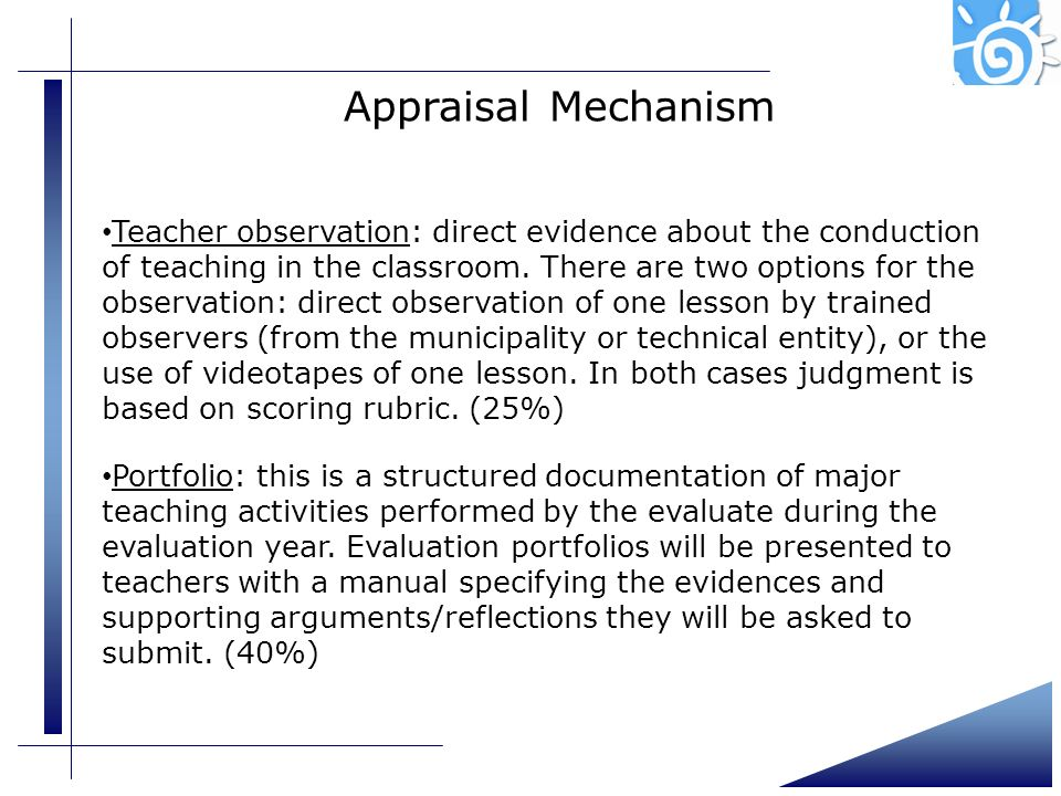 Presentation (4) Appraisal Mechanism.