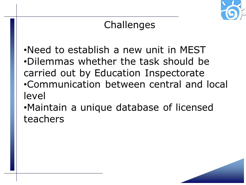 Need to establish a new unit in MEST