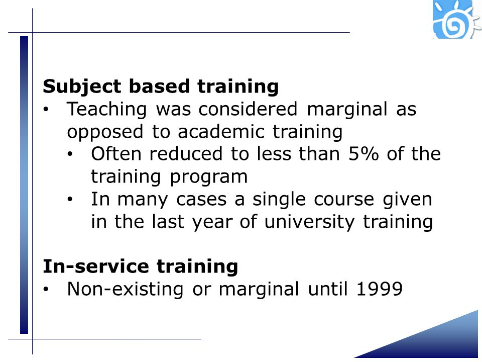 Subject based training