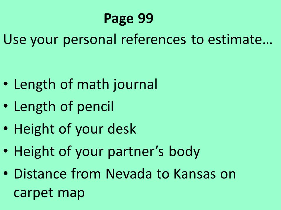 personal references