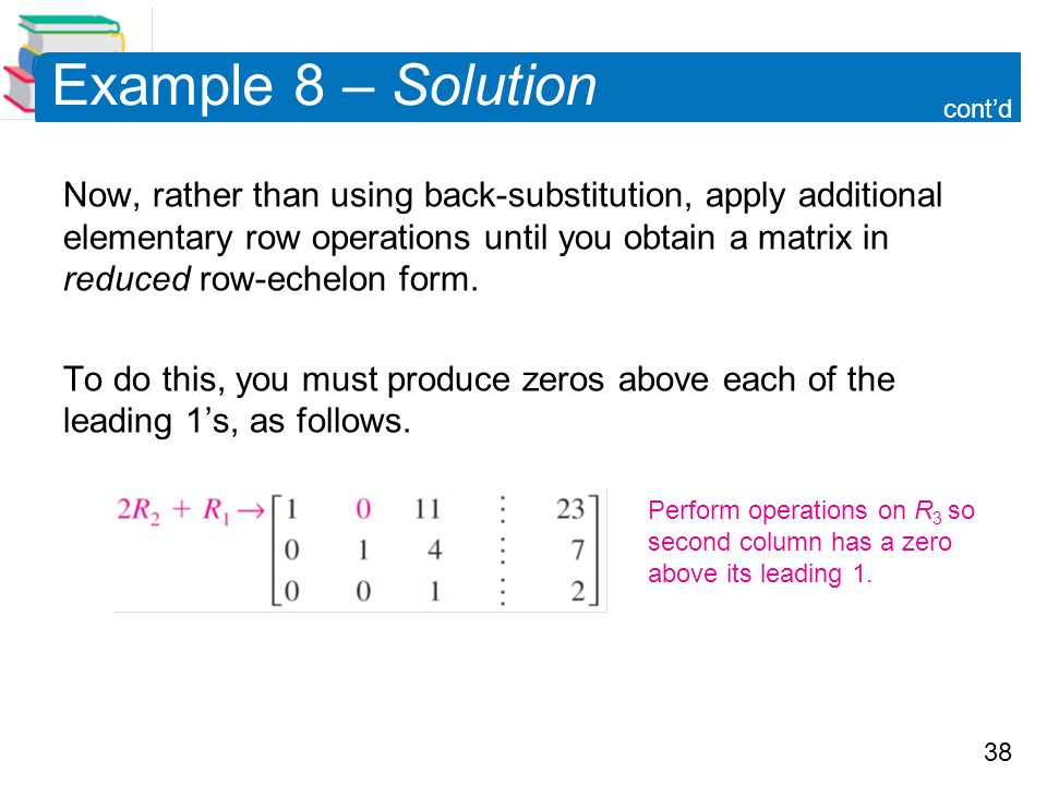 Example 8 – Solution cont'd.