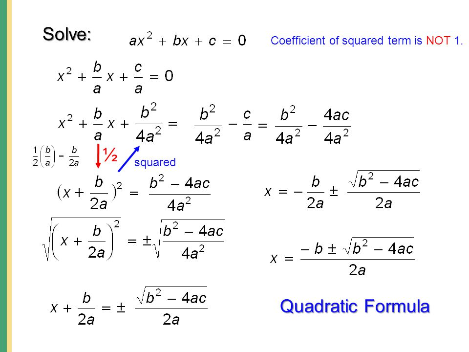 how to solve quadratic equations with coefficients