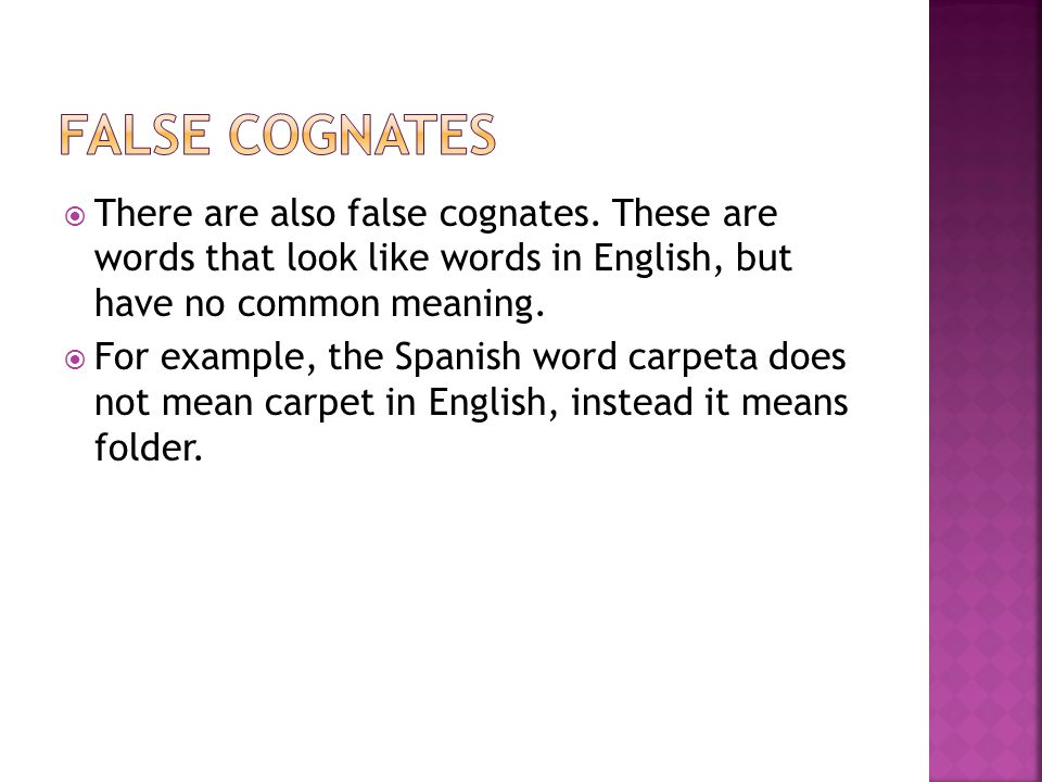 what does the spanish word essay mean in english A cognate is a word that is related in origin to another word, such as english brother and german bruder, or english history and spanish historia cognates have similar meanings and (usually) similar spellings in two different languages.