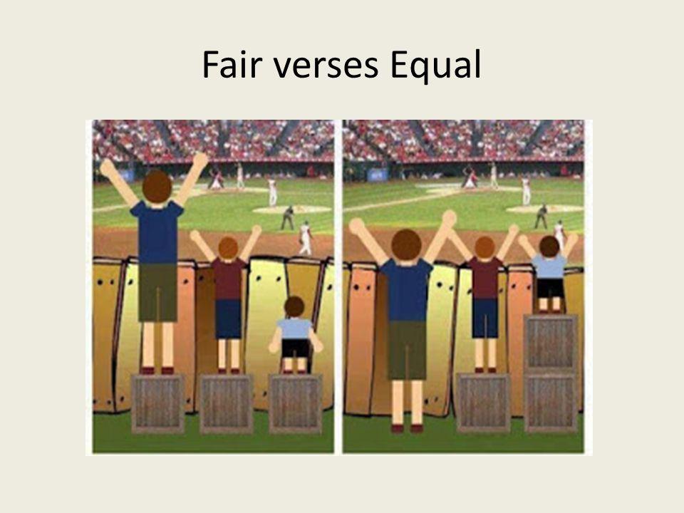 Fair verses Equal