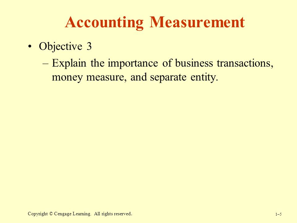 Accounting Measurement