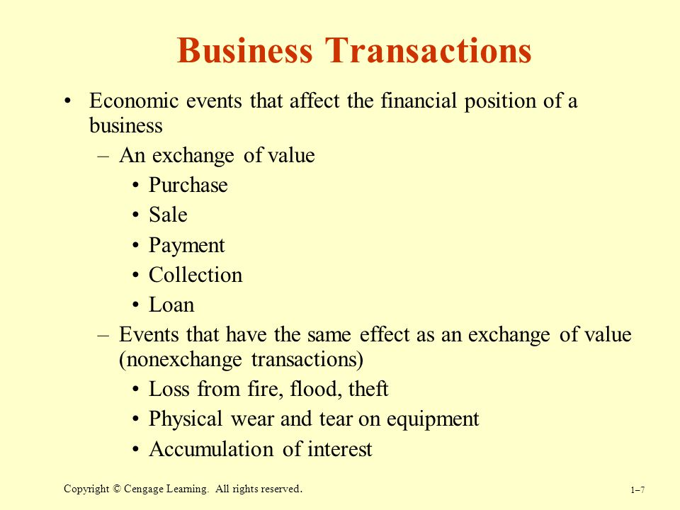 Business Transactions