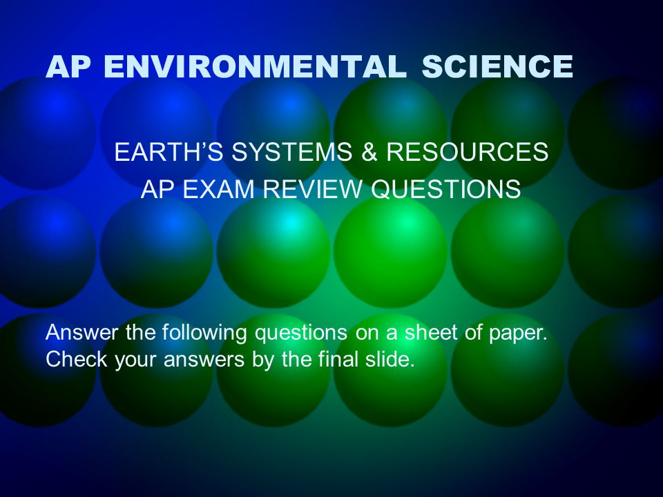 earth science final essay questions