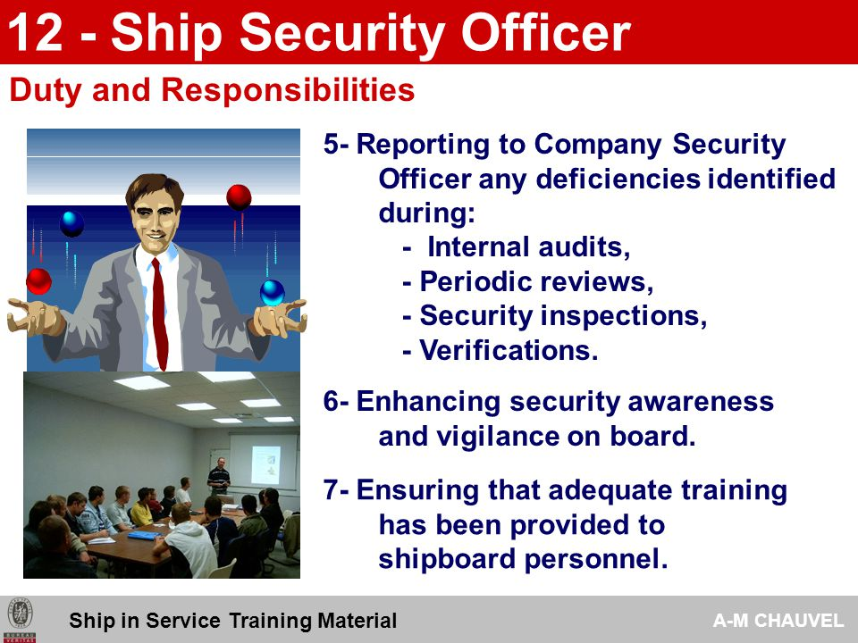 12 - Ship Security Officer