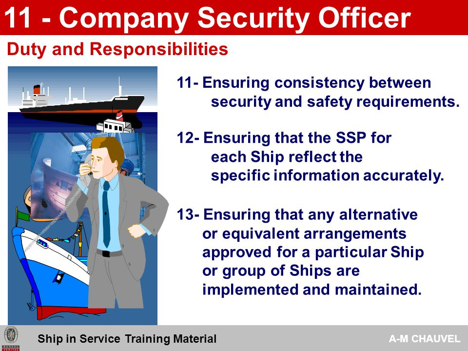 11 - Company Security Officer