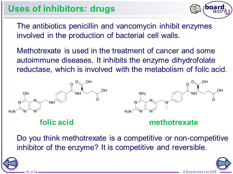 Uses of inhibitors: drugs