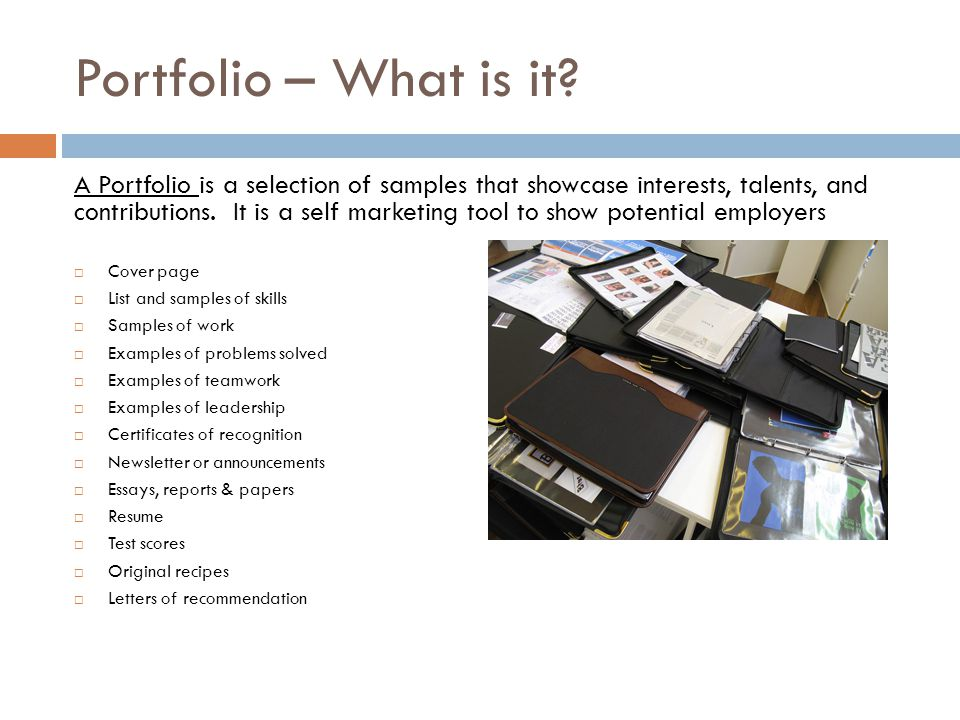 Portfolio – What is it