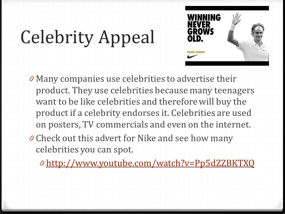 Celebrity Appeal