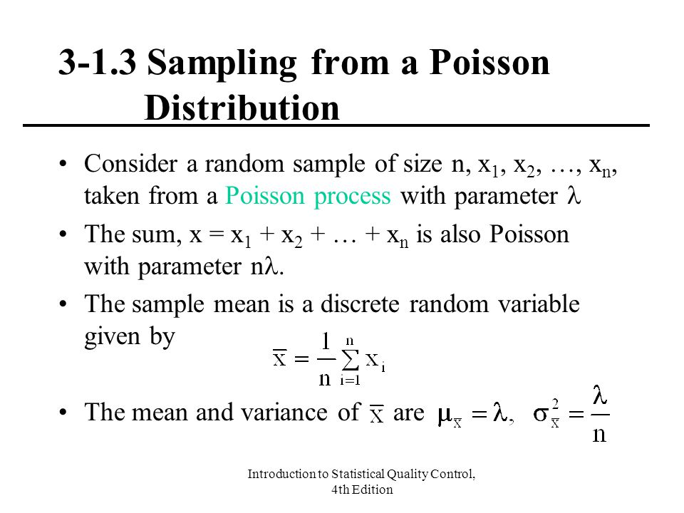 3-1.3 Sampling from a Poisson Distribution