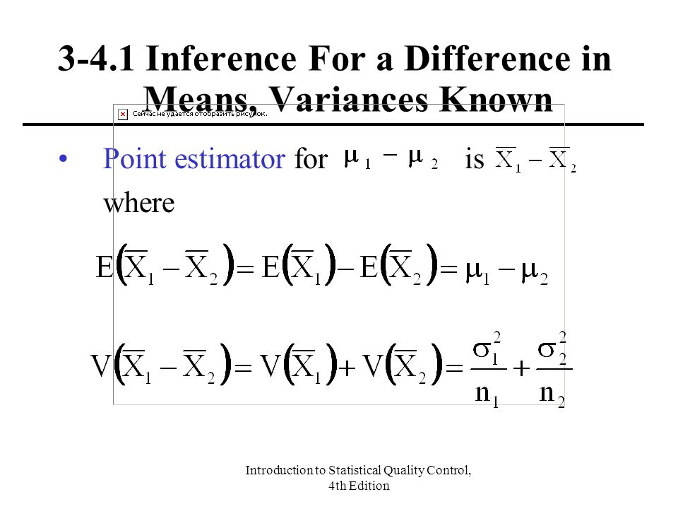 3-4.1 Inference For a Difference in Means, Variances Known
