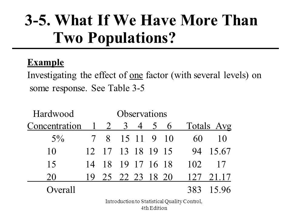 3-5. What If We Have More Than Two Populations