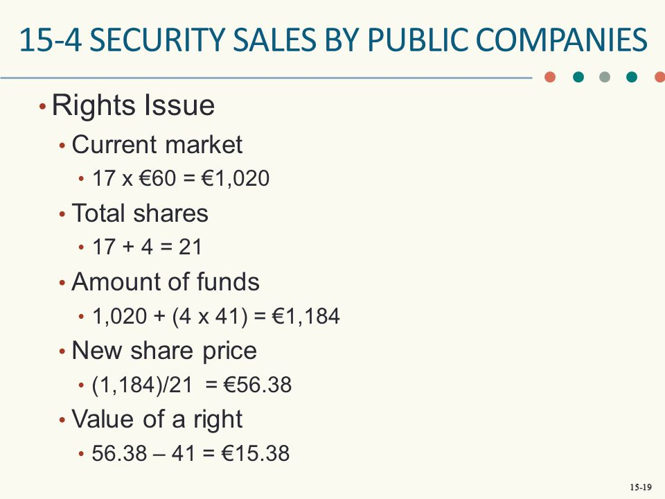 15-4 SECURITY SALES BY PUBLIC COMPANIES
