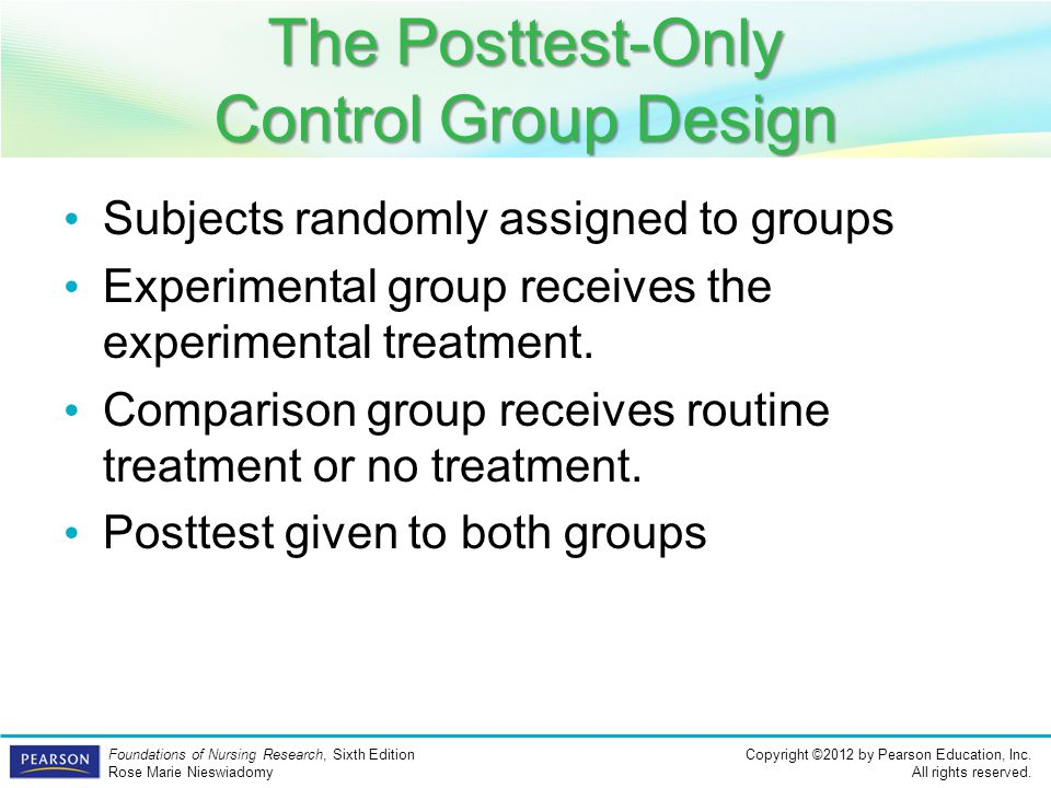 The Posttest-Only Control Group Design