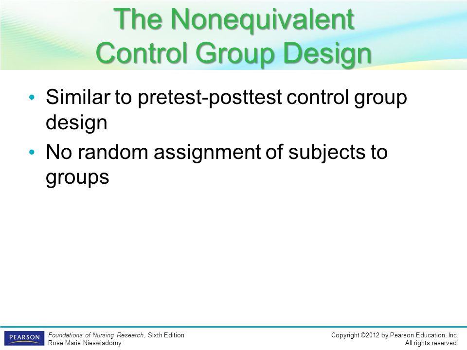 The Nonequivalent Control Group Design