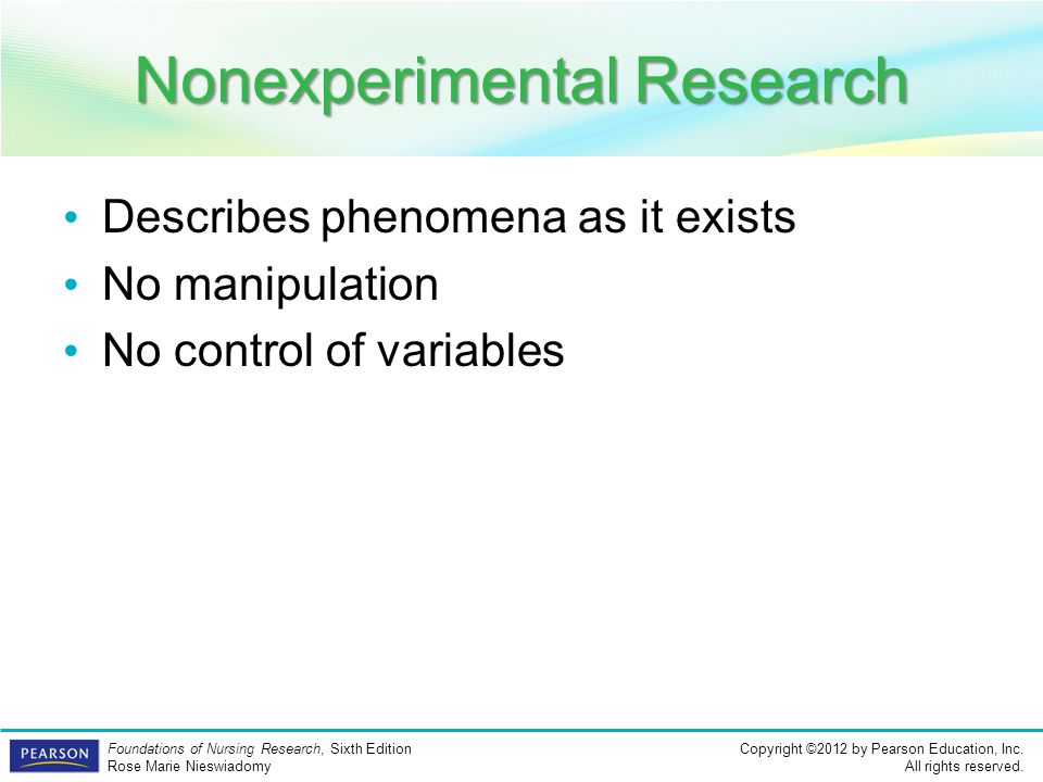 Nonexperimental Research