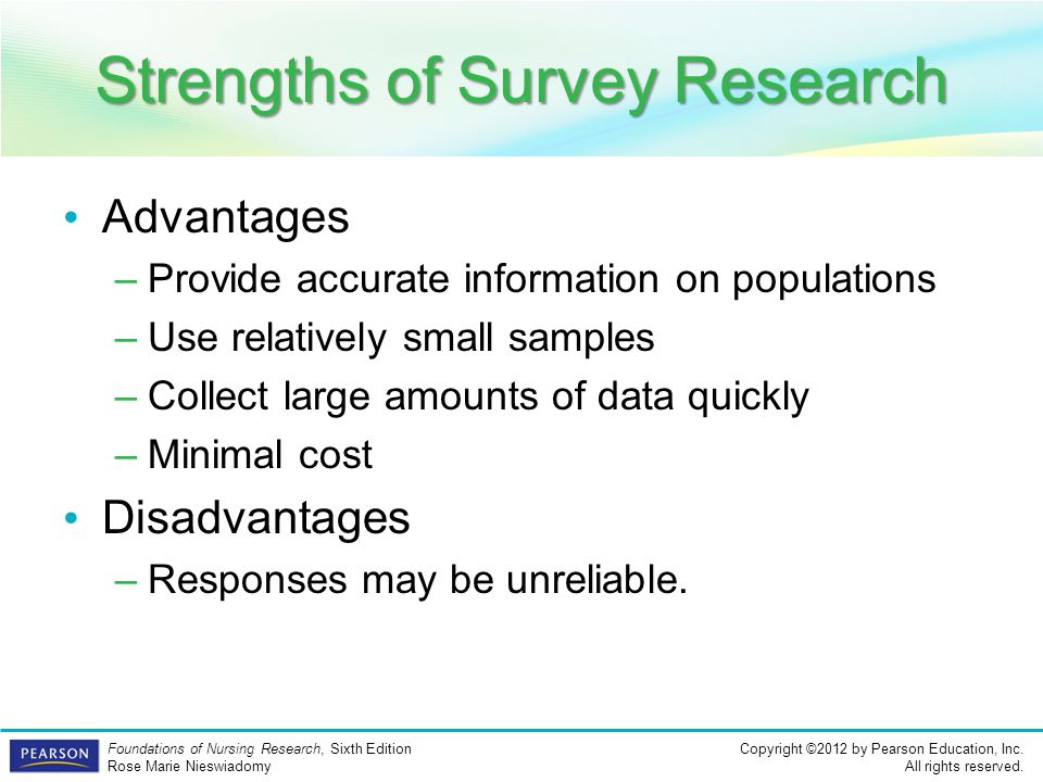 Strengths of Survey Research