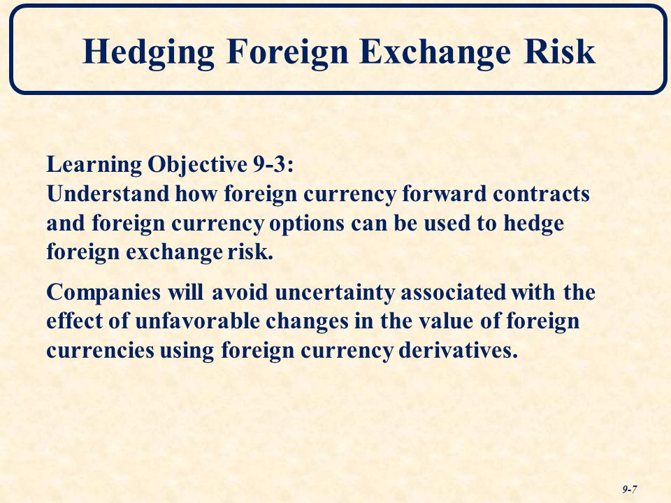 Hedging spot fx with options