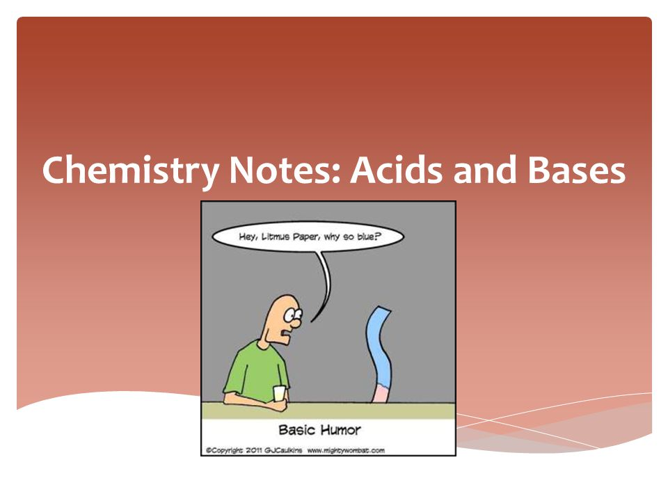 Chemistry Notes: Acids and Bases