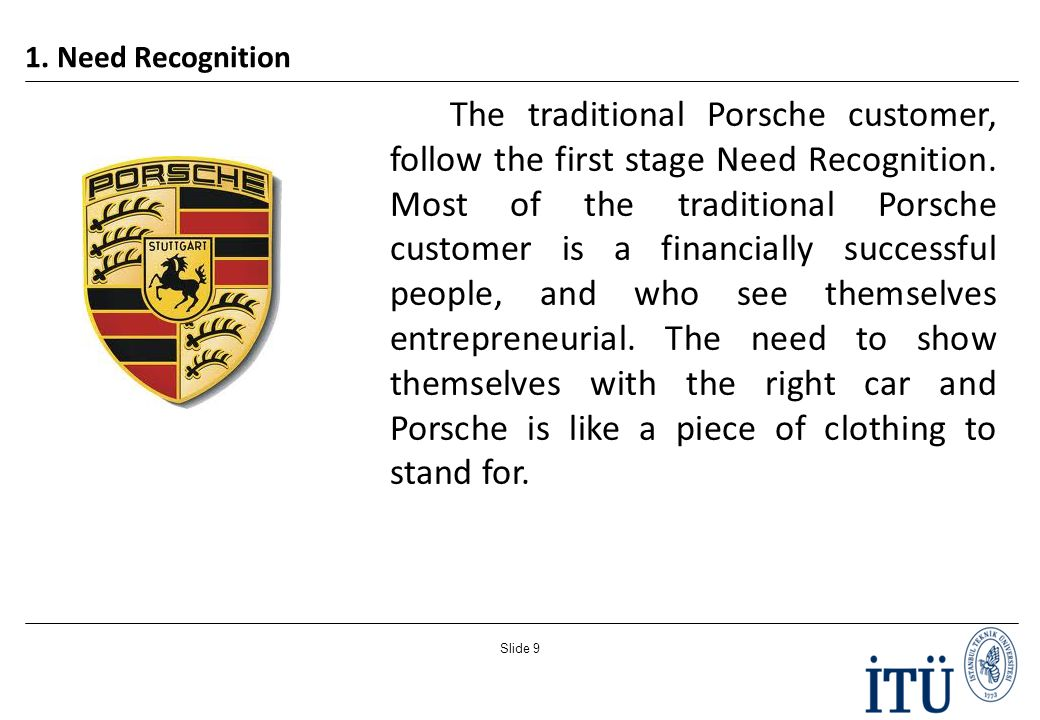 analyze the buyer decision process of a traditional porsche customer The six stages of the consumer buying process and how to the potential customer into the buying process other options to ensure their decision is the.