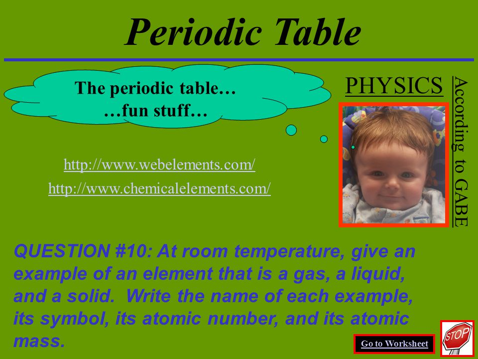 Physics chapter 17 the atomic nature of matter physics for Periodic table 6 mark question