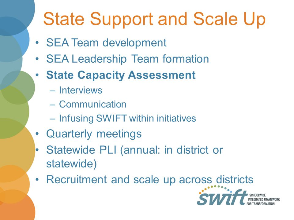 State Support and Scale Up