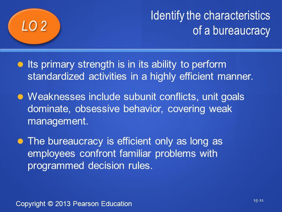 characteristics of bureaucracy