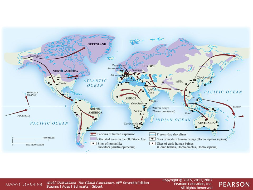 from human prehistory to the early Chapter review human migration began in eastern africa, where remains of the earliest types of human remains were found to originate gradual migration was caused by the need to find scarce food and slowly caused the spread of the human population across to the americas and australia.