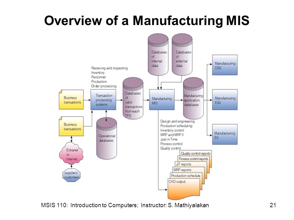 Overview of a Manufacturing MIS