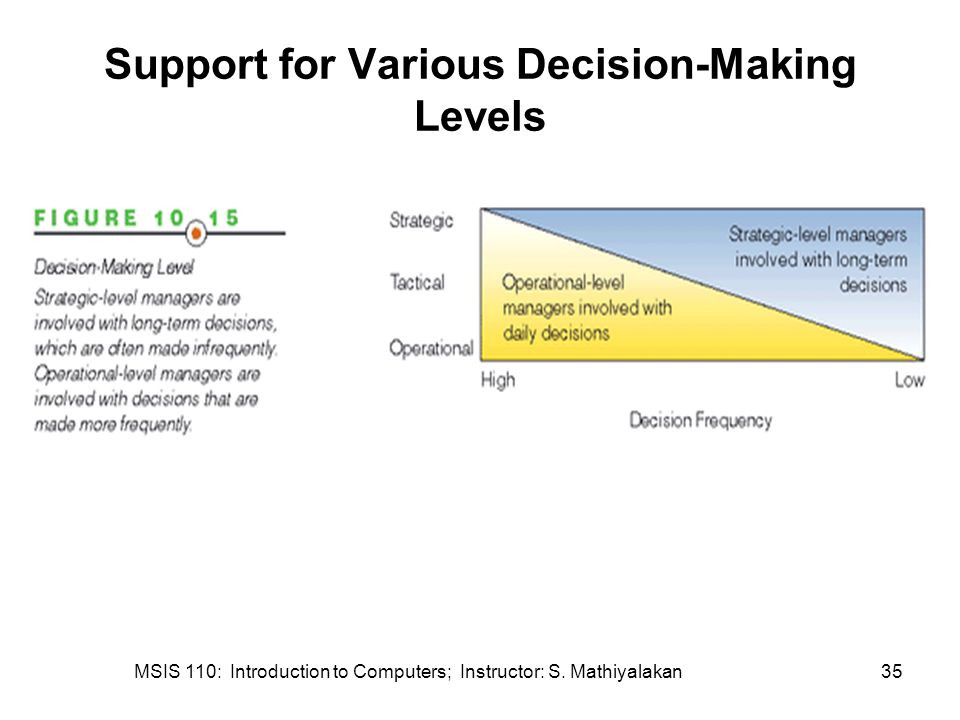 Support for Various Decision-Making Levels