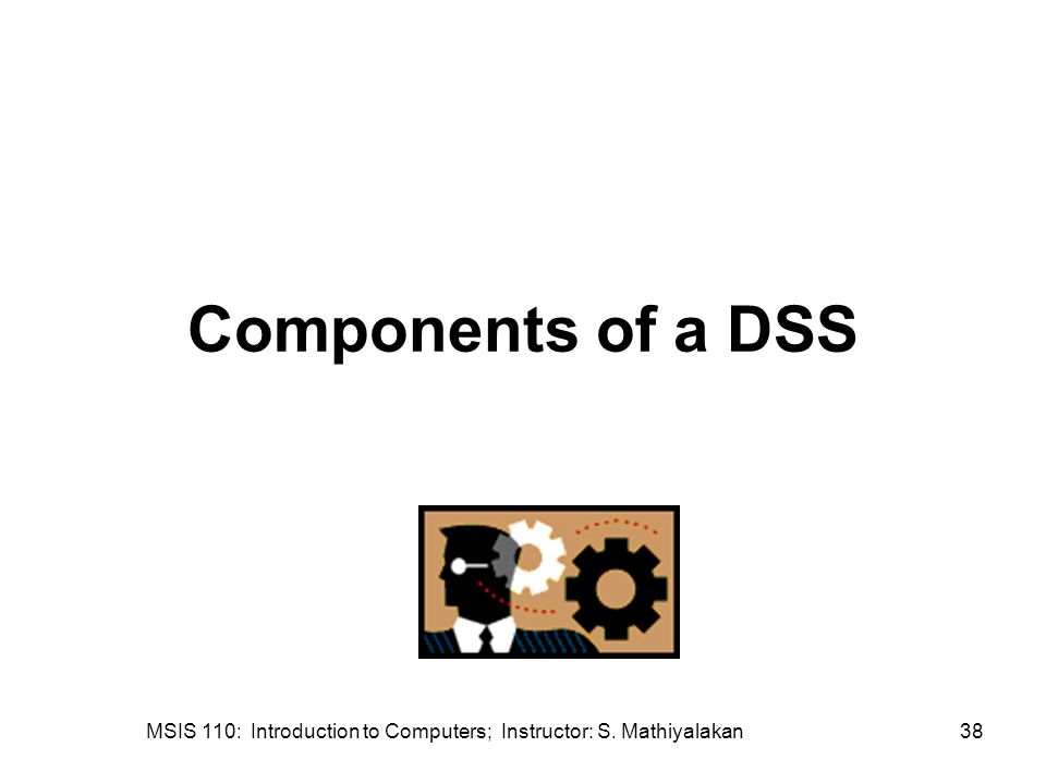MSIS 110: Introduction to Computers; Instructor: S. Mathiyalakan