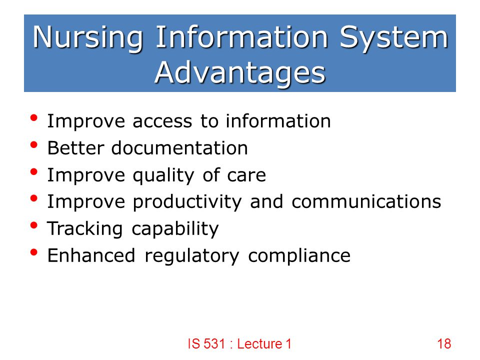 advantages of information systems 23052014 the importance of information  generalized advantages and disadvantages of information  interdependent system information can be shared.