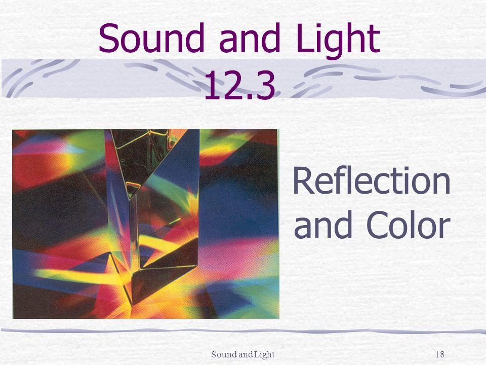 sound and light the nature of light sound and light sound and